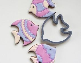 Fish 2 cookie cutter for professional 3D print model