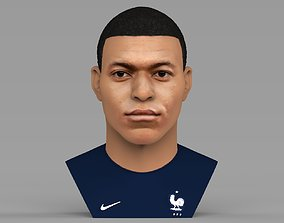 Kylian Mbappe bust ready for full color 3D