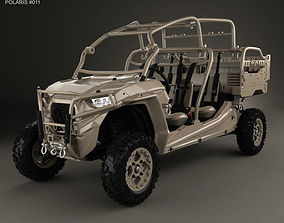 Polaris MRZR D4 Military Tan 2016 3D model