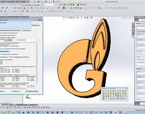 3D print model Russian Gazprom emblem