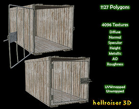 Dog Cage - 2 Models - PBR - Textured game-ready