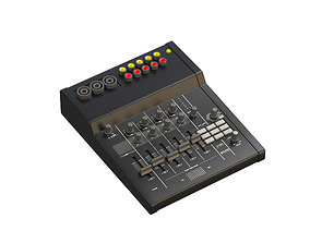 records 3D model Audio mixing console