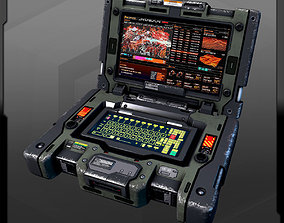 3D asset SF Military Laptop