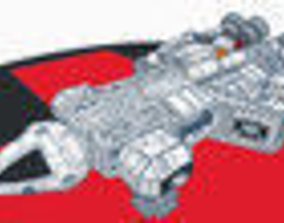 Space 2220 Eagle Transporter 3D printable model