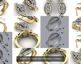 3D model WOMAN SET RING AND EARRINGS jewel