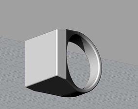 3D print model Mens Engravable Signet Ring