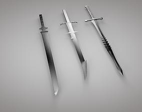 Set of swords 3D asset