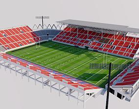 Hanazono Rugby Stadium - Japan 3D model