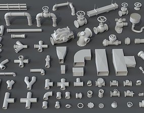 Pipes - 80 pieces 3D model