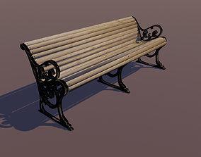 Deck Bench 3D asset