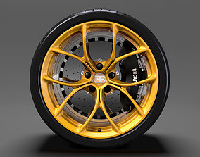 3D Bugatti Chiron wheel