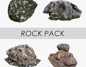 3D model game-ready Rock Pack