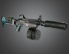 3D model MSG - FPS Modern Shotguns - P12AWS - PBR Game