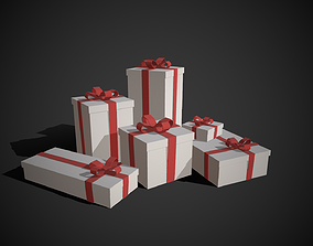 Gift Boxes 3D model