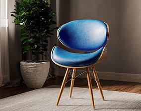 Corvus Madonna Mid-century Teal Accent Chair 3D