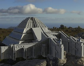 3D model Egyptian Gateway