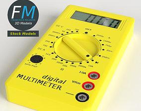 Digital multimeter 3D PBR