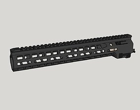 geissele Mk14 M-Lok Rail for AR15 3D
