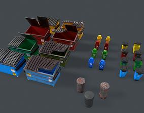 Dumpster Pack 3D asset