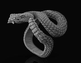 3D printable model Ring rattlesnake