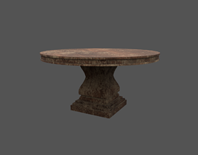 3D model Rounded table
