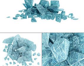landscape 3D model Ice splinter
