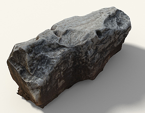 3D model Old Greek Stone With Writing