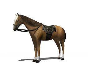 Horse 3D model low-poly farm