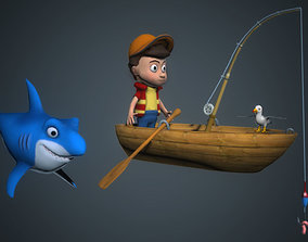 Fisherman 3D asset