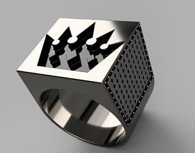 3D printable model Brutal Crown Ring