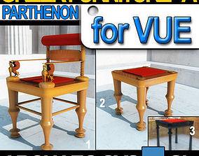 Greek Parthenon Furniture 448 438 BC 3D