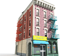 Nyc Building 02 Type 2 3D asset
