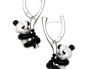 Panda earrrings - original 3D printable model