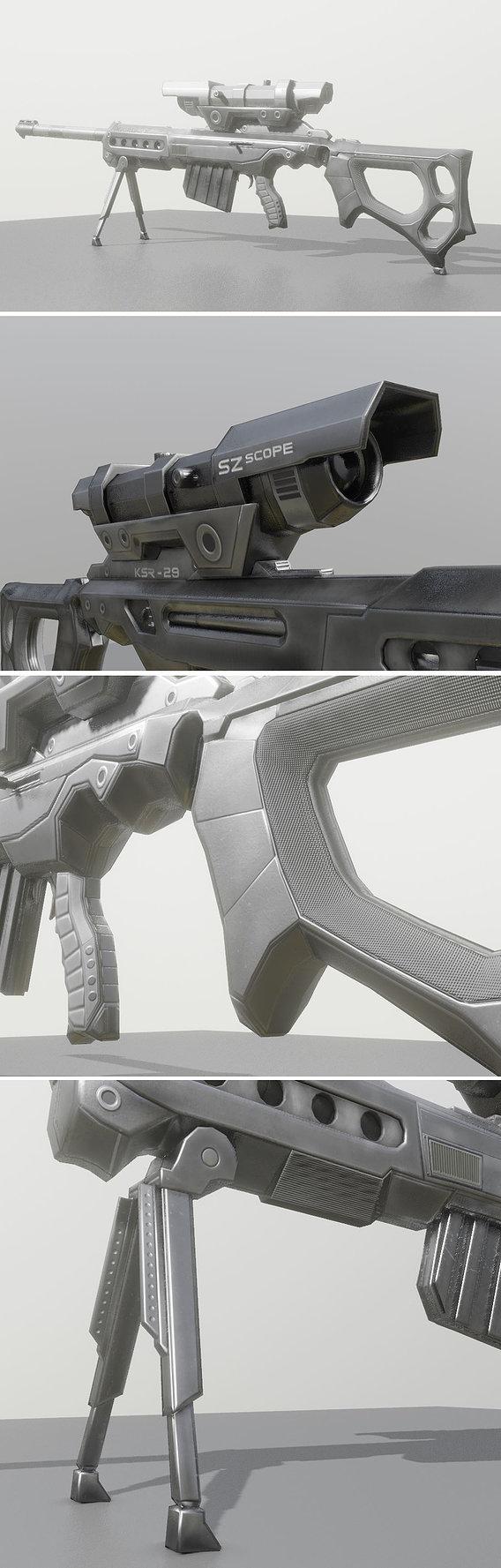 KSR28 Sniperrifle Blender 2-82a Version
