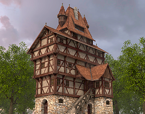 Half-timbered house from the 17th CENTURY 3D model