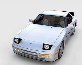 Porsche 944 S2 with interior rev 3D