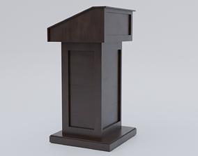 3D asset New Pulpit - Lectern expo