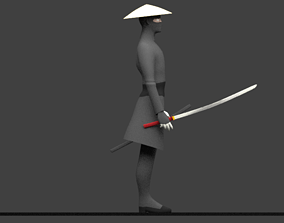 Shinobi Simple 3D asset