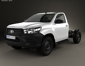 Toyota Hilux Workmate Single Cab Chassis 2015 3D