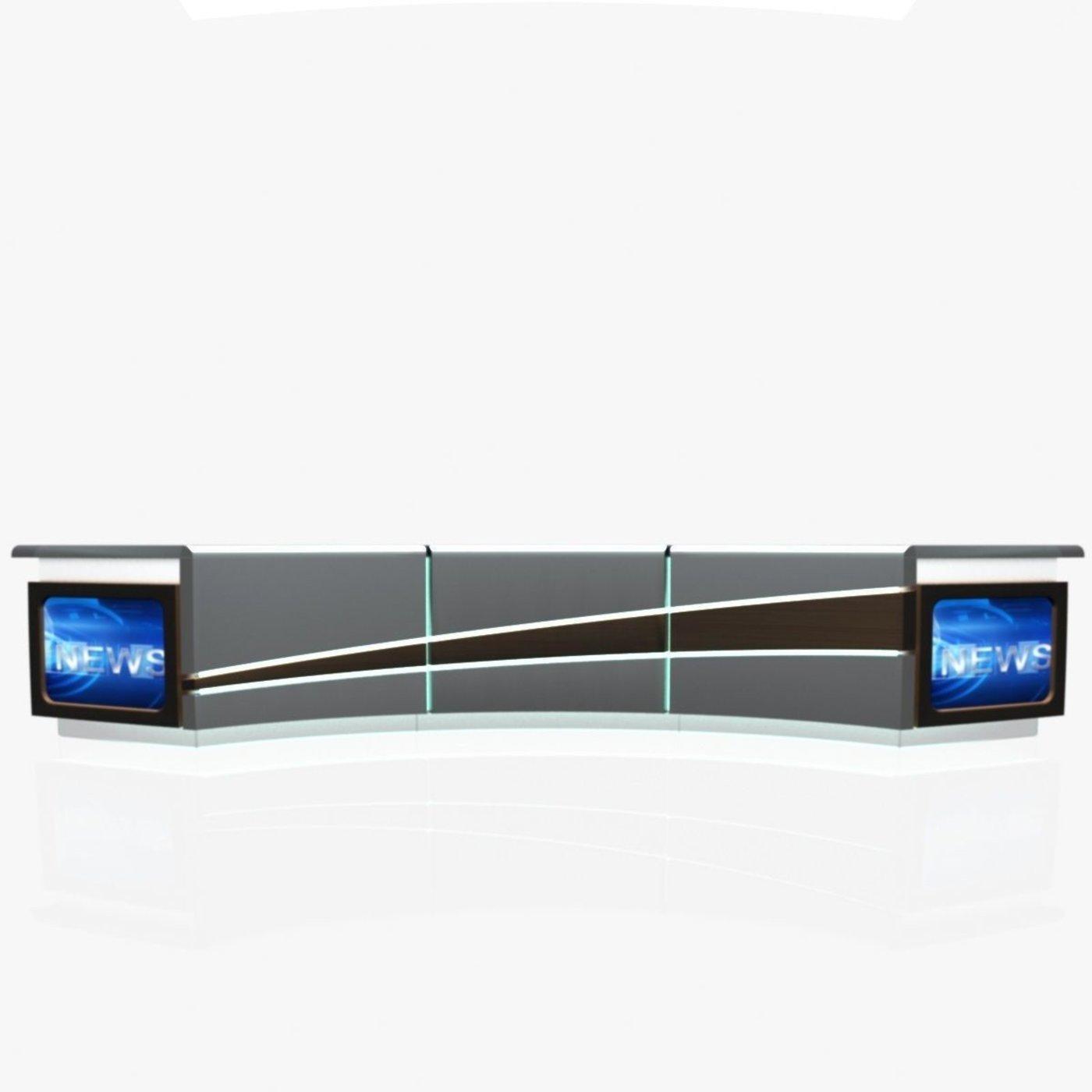 3D TV Studio News Desk 4