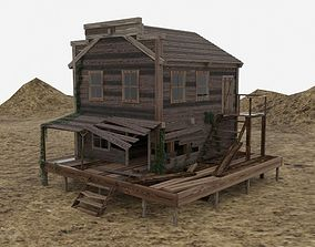 3D Old wooden house