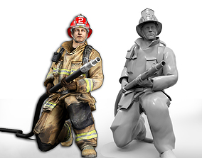 Firefighter character of NY 3D printable model