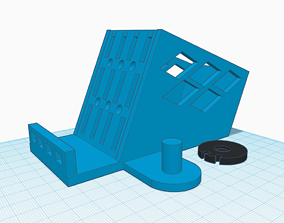 Phone stand with earphone holder 3D printable model