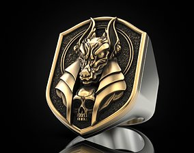 Anubis ring 3D print model
