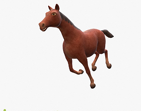 3D asset Horse animated