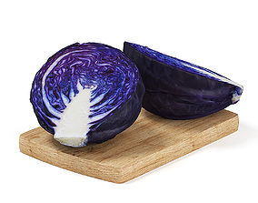 Sliced Red Cabbage 3D