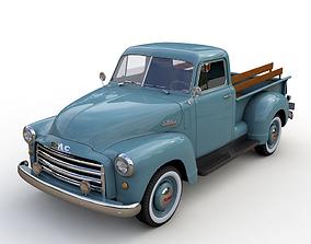 GMC 9300 PICKUP TRUCK 1952 cargo 3D model