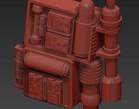 Shock Trooper Backpack 3D print STL for 6 inch figure