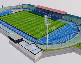 3D model Stade Josy Barthel - Luxembourg