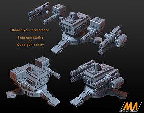 Sentry gun 3D print model